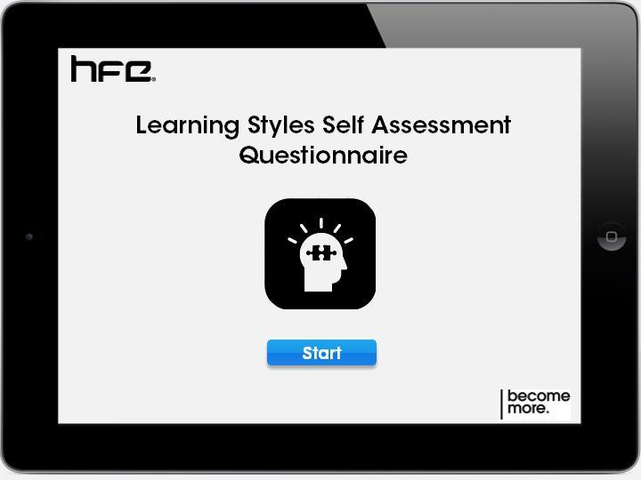 VAK Learning Styles Questionnaire | HFE