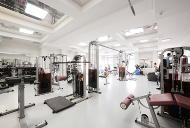 A modern, fully equipped gym