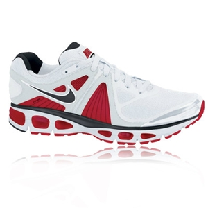 Nike White Trainers with red flash