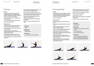 Preview of pages from our Pilates manual