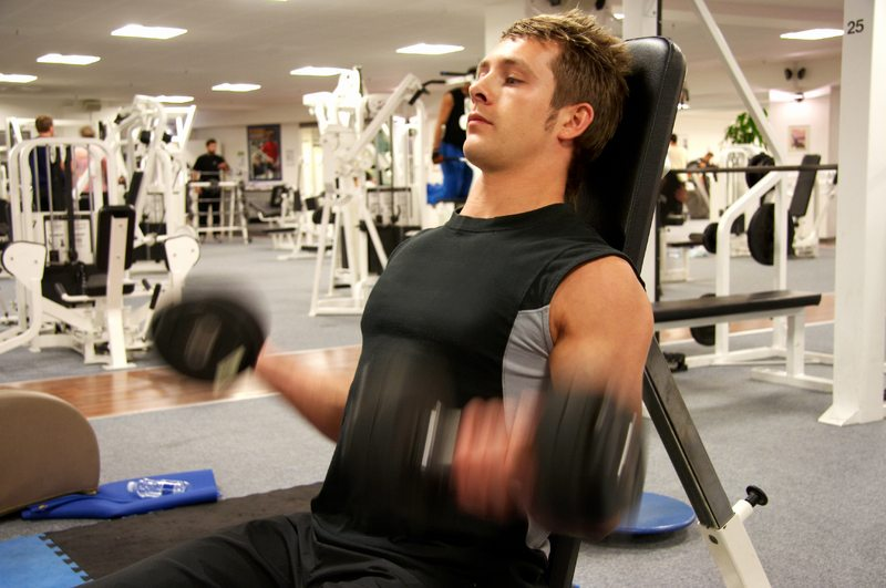 man performing a resistance exercise