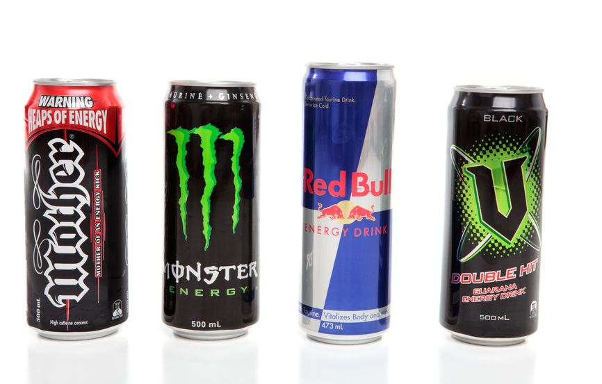 4 different energy drinks