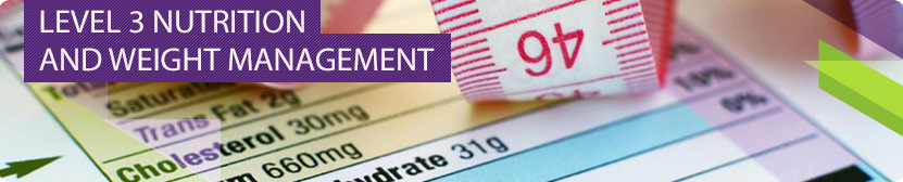 Level 3 Nutrition and Weight management Banner