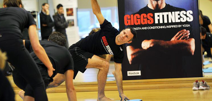 Ryan Giggs at the launch of his yoga DVD 'Giggs Fitness'