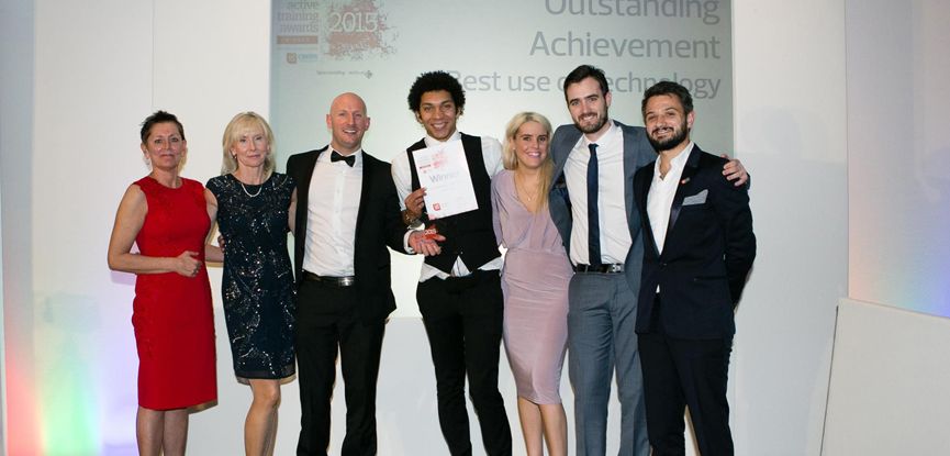 HFE celebrating their recent success at the ukactive Active Training Awards