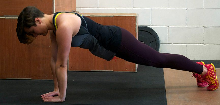 Guest blogger Fitcetera demonstrates a Crossfit burpee