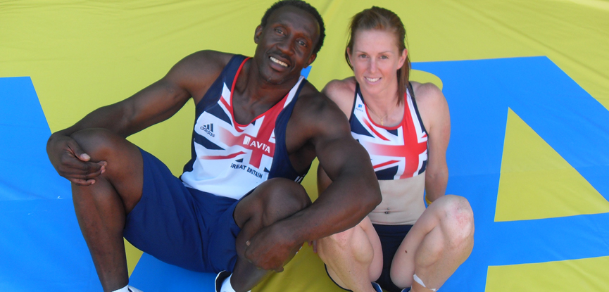 Olympic sprinter Laura Turner-Alleyne with Linford Christie