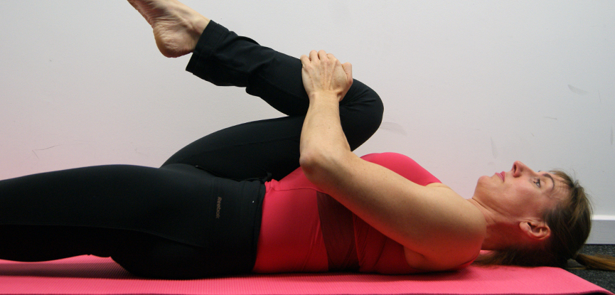 Hip flexor Pilates stretch for those with low back pain