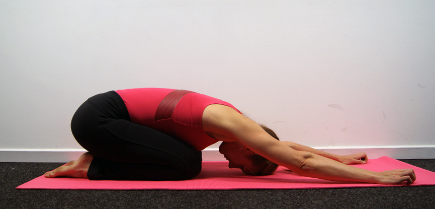 The Pilates shell stretch is ideal for treating low back pain