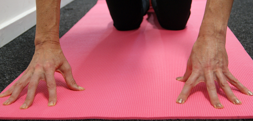 a pilates wrist exercise for older adults