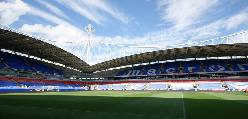 Macron stadium where Bolton Wanderers play
