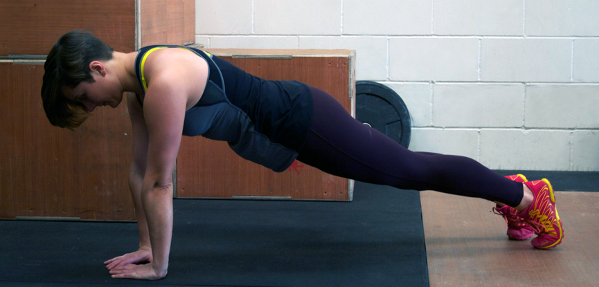 Georgina (Fitcetera) demonstrates perfect push-up form