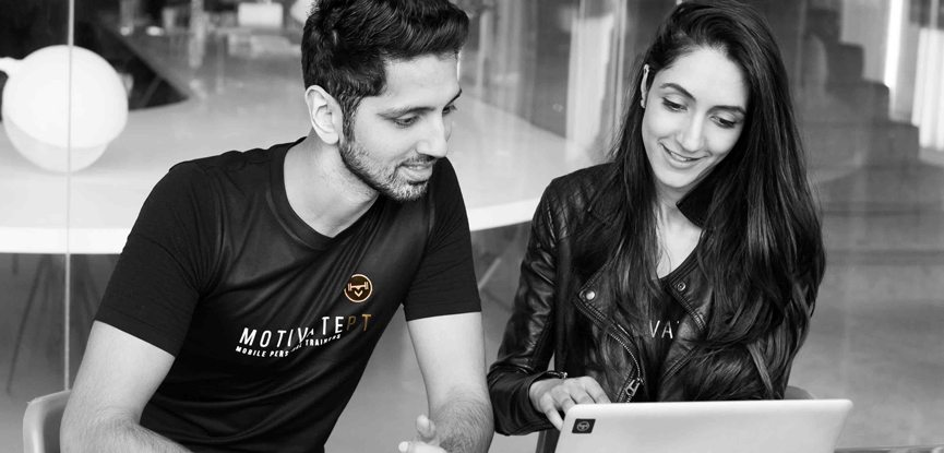Motivate PT's co-founder Harikat pictured right