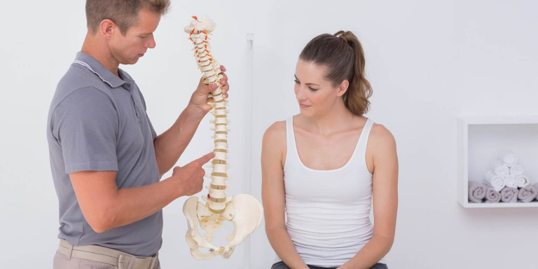 woman with physio