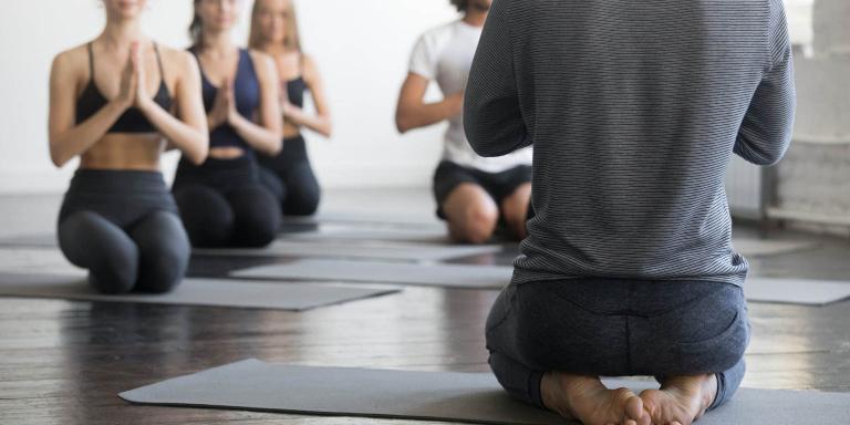 Yoga class - namaste