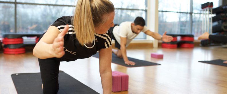 Level 3 students attending a Pilates class