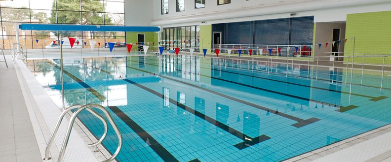 Swimming pool at a leisure centre