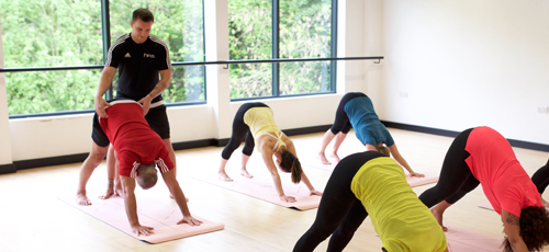 HFE instructor leading a yoga class for special populations