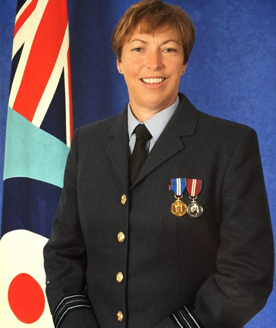 RAF Squadron leader and Pilates graduate Joan Cawthray