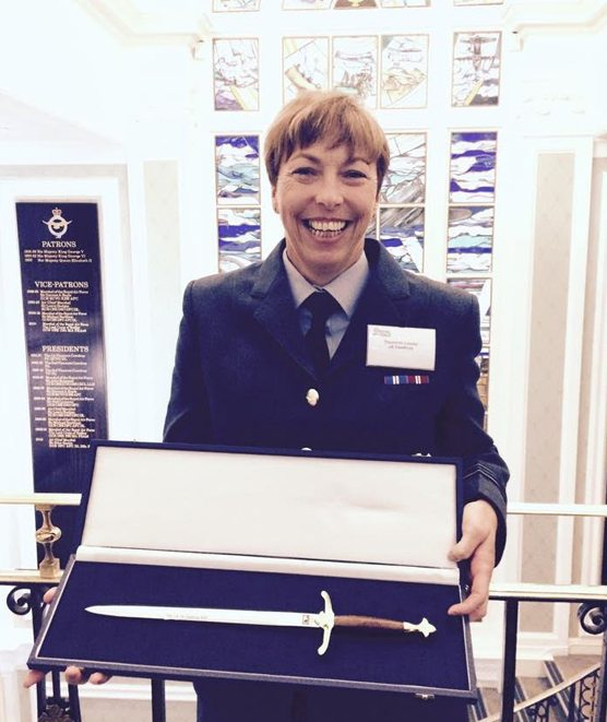Joan Cawthray being honoured for UK Armed Forces Sportswoman of the Year