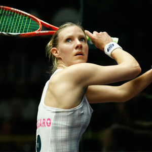 Former World No.1 squash player Laura Massaro
