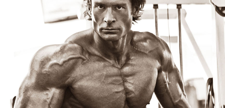 Nick Mitchell in his younger bodybuilding days
