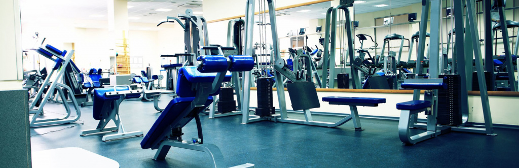 Fully equipped gym with resistance equipment