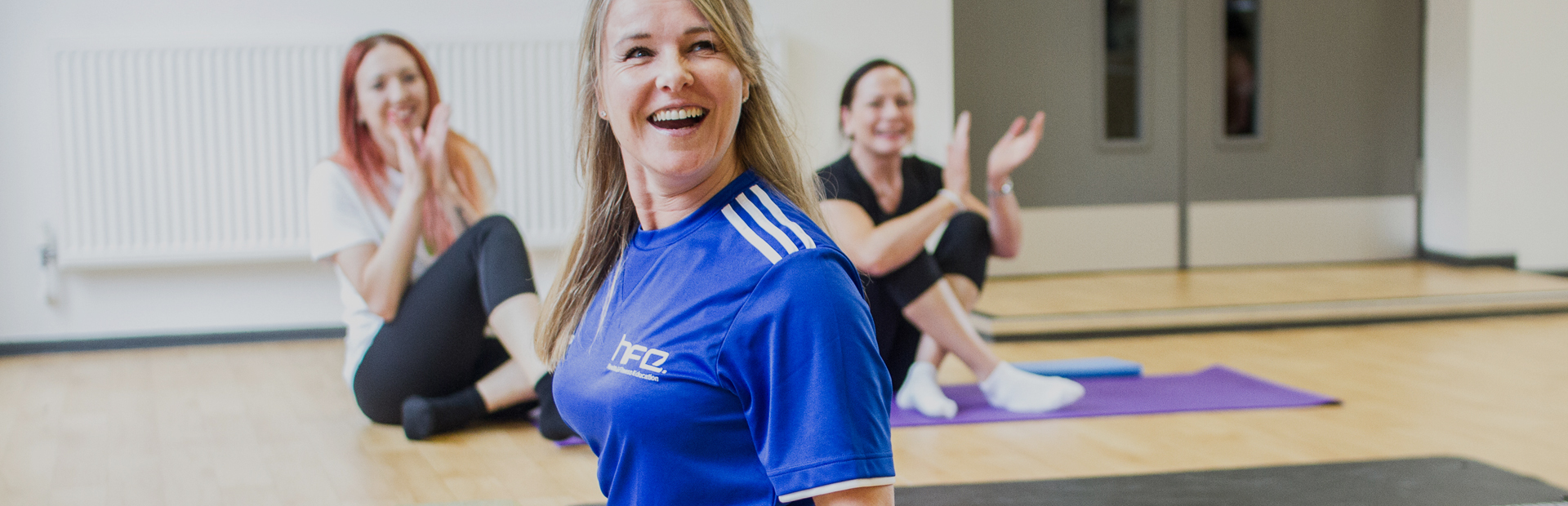 HFE course tutor performing the splits