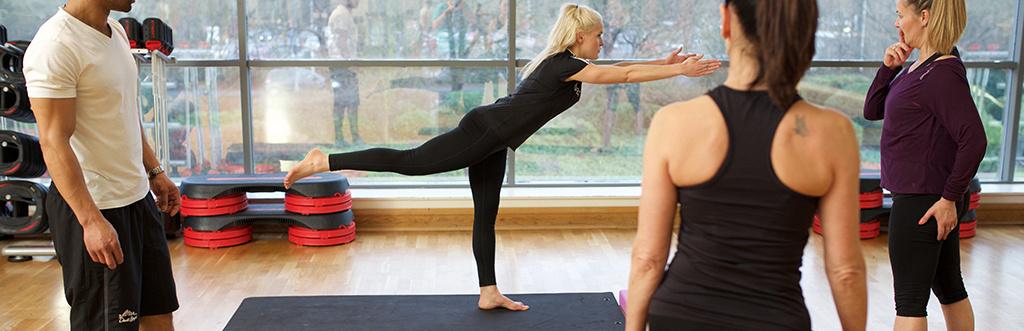 Students taking part in yoga teacher training