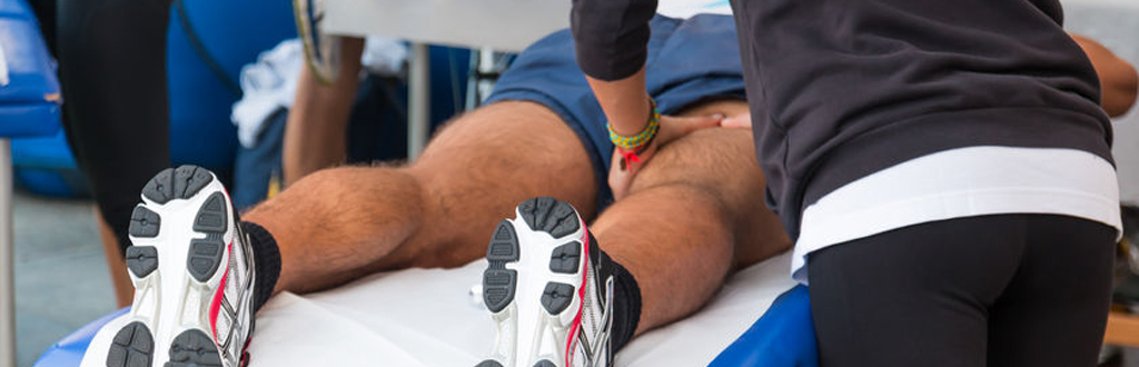 Sports massage therapists can work at sporting events