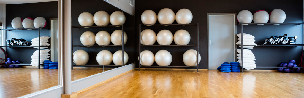 A fitness studio in a gym