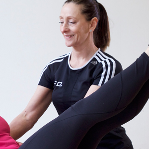 =Karen Smith is an expert Pilates instructor