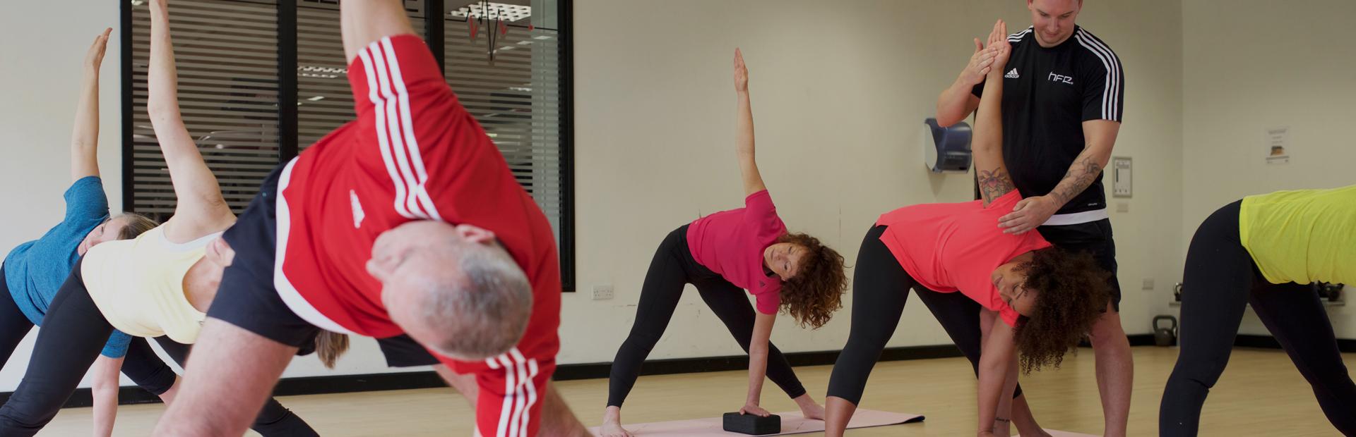 HFE instructor leading yoga teacher training