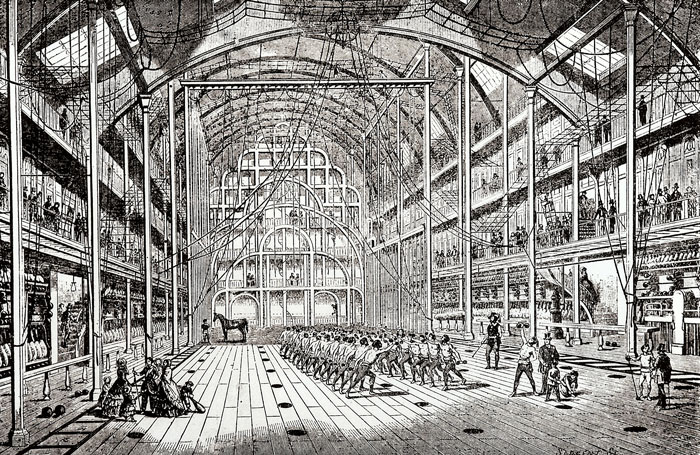 An illustration Hippolyte Triat's gym