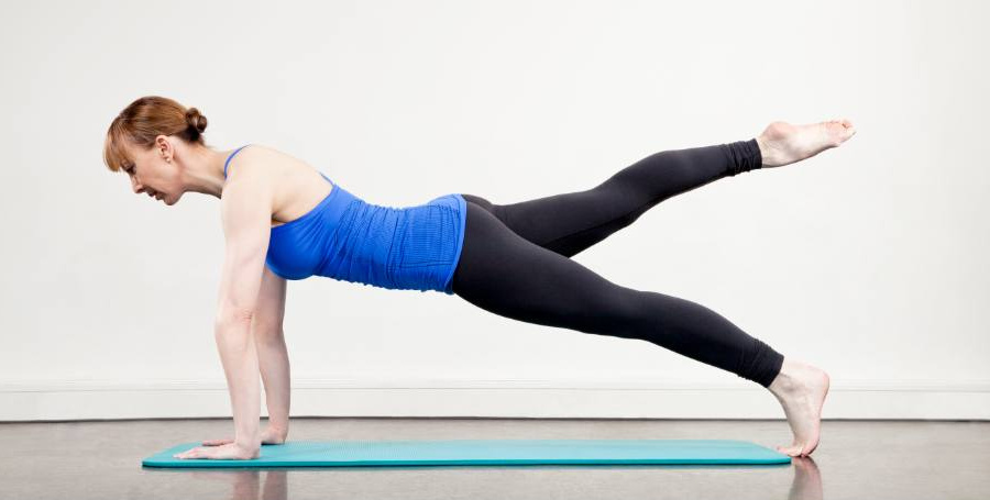 An image of Rachel Lawrence in a Pilates pose