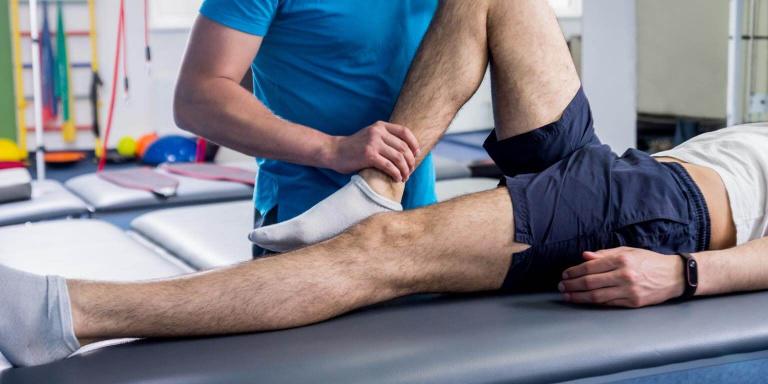Man mobilising hip