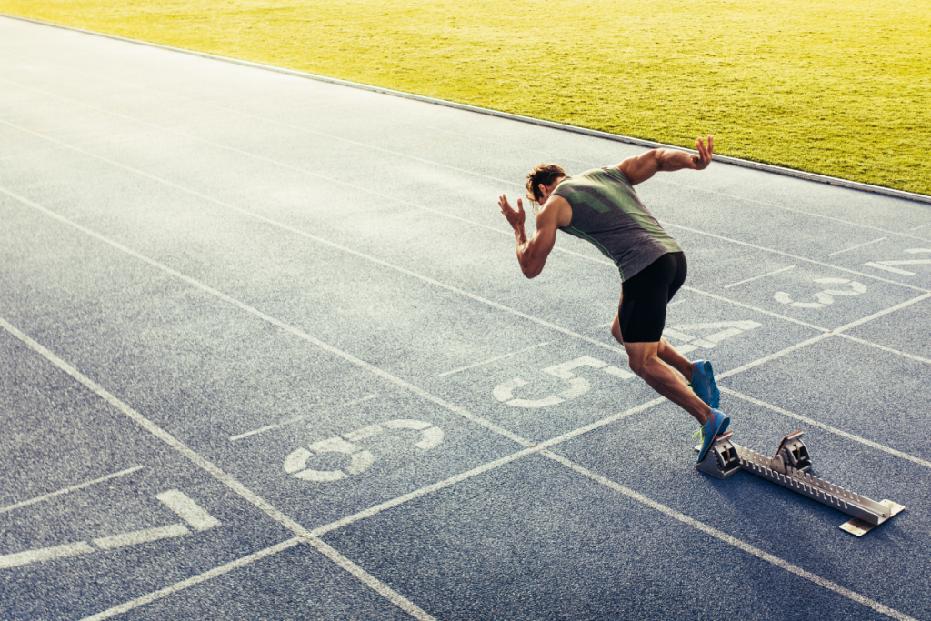 Sports nutrition track runner