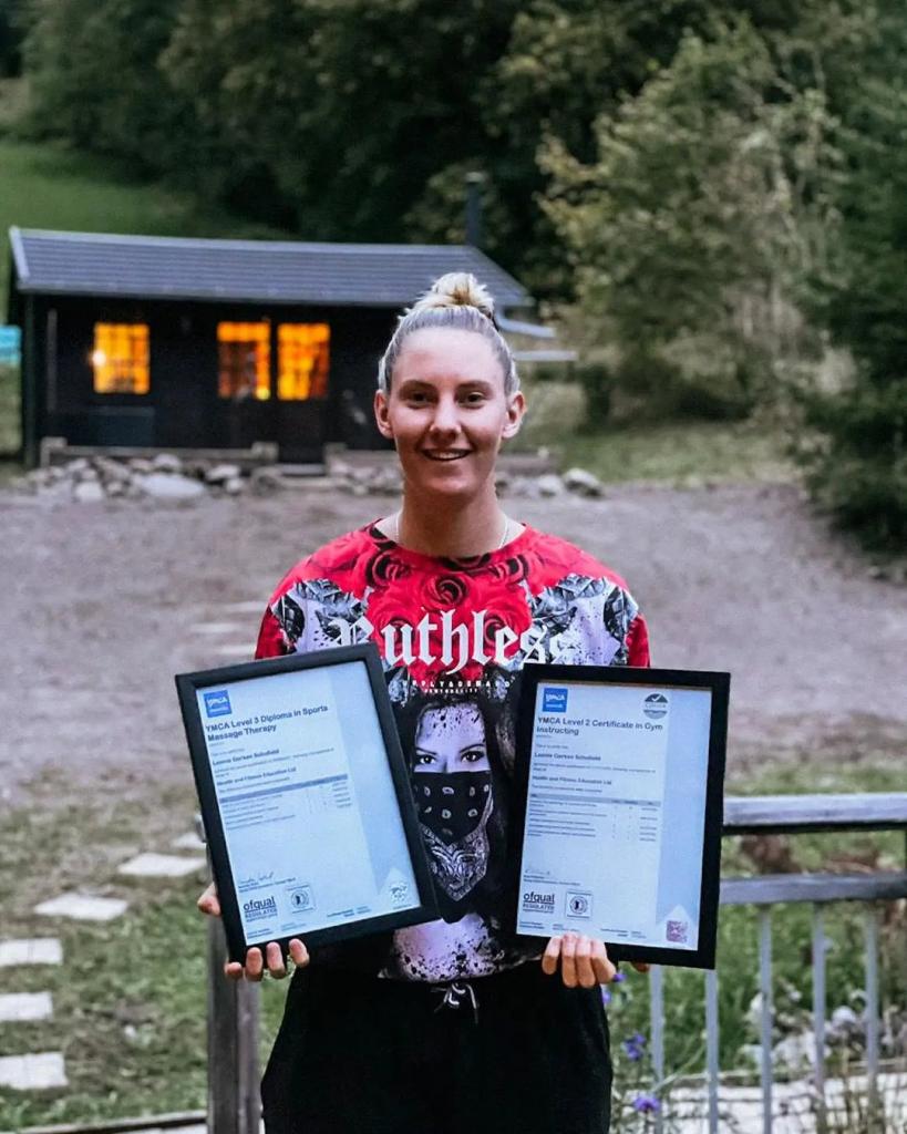 Leonie Gerken Schofield with HFE qualifications.